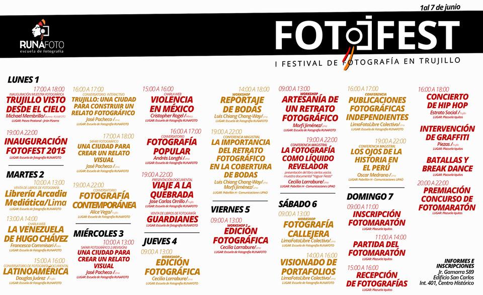 Fotofest Trujillo Programacion
